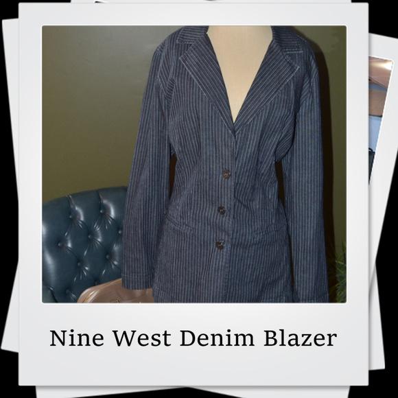 Nine West Jackets & Blazers - 🎉🎉🎉 PRICE DROP🎉🎉🎉Nine West Dark Denim Blazer